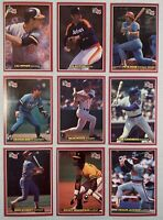 1984 Donruss Jumbo Lot of 19 Different Super Star & Hall of Famer Baseball Cards