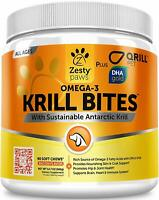 Omega 3 Krill Fish Oil for Dogs - Hip & Joint Arthritis Relief + Skin & Coat USA