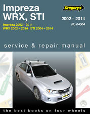 Gregory's Service & Repair Manual Subaru Impreza WRX STI 2002-14 OWNERS WORKSHOP