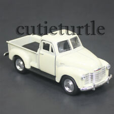 "4.75"" Welly 1953 Chevy 3100 Pick Up Truck Diecast Toy 43708D Cream"