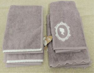 NEW - Four Lilac Handtowels From Madame Posh - Nice Quality  - Thames Hospice