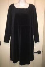 Vintage Finds! Black Velour HANNA ANDERSSON Ladies Dress ~ Size LARGE ~ NWT!