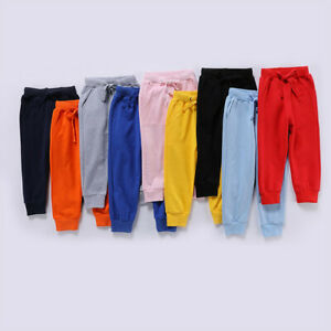 Toddler Kids Baby Boys Girls Winter Autumn Casual Solid Pants Loose Trousers