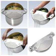 Stainless Pot Strainer Pasta Drainer Sieve Filter Kitchen Cooking Utensil Tool