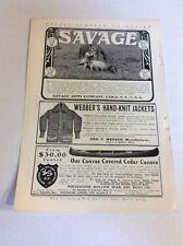1903 MAGAZINE AD #A3-122 - Savage Arms Co.
