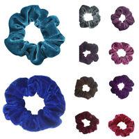 6pcs Velvet Elastic Hair Scrunchie Ponytail Holder Stretchy Hair Band Ring Rope