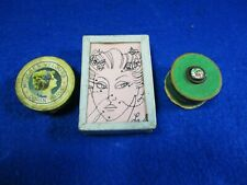 VINTAGE BOUDOIR ART DECO PAPER BEAUTY MARK BOXES MOUCHES VELOURS DORIN PARIS