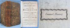 Grammaire Italienne-Française-Allemande / 1789 / Ex-Libris BUXTORF