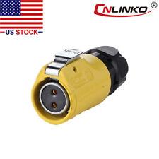 2 Pin Power Circular Industrial Connector Female Plug Outdoor Waterproof IP67