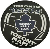 TORONTO MAPLE LEAFS INGLASCO + VEGUM NHL OFFICIAL HOCKEY PUCK SHADOW LOGO 🇸🇰