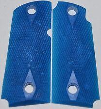 Kimber Micro Carry Pistol Grips Double Diamond sapphire blue plastic