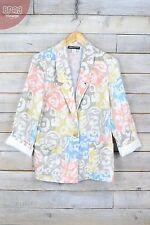 Hip Length Cotton Floral Coats & Jackets Blazer for Women