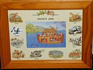 Noah's Ark Framed Print Koalas Kangaroos Pandas Lions Penguins Framed Print