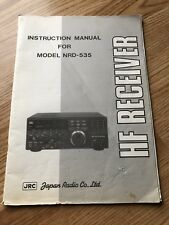 JRC Model NRD-535 HF Receiver Instruction Manual - Manual Only