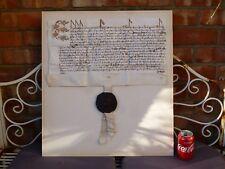 More details for genuine 1601 elizabeth i privy seal latin manuscript thurland castle document