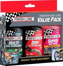 Finish Line Bike Care Value Pack: Dry Lube, EcoTech Degreaser, & Super Bike Wash