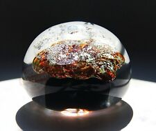 """SEGUSO ITALY VENETIAN MURANO GLASS CRYSTAL LARGE 4 1/4""""X3 1/2"""" PAPERWEIGHT NEW 2"""