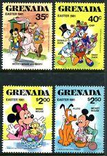 Grenada Grenadin 1041-4, Mnh, Disney Characters Donald Duck Mickey Mouse. x8021