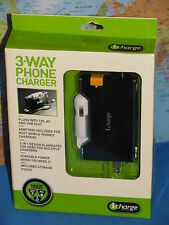 3-WAY PHONE CHARGER  I CHARGE ***BRAND NEW & RARE***