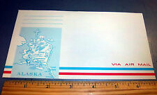 Alaska via Air Mail mailing envelope, with Alaska graphic, from the 1950s, cool!