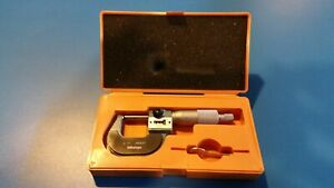 "Mitutoyo 295-153 0-1"" Digital Counter Ball Anvil Micrometer. Carbide Faces,.0001"