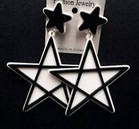 Fashion Women Drop Dangle Earring Acrylic Resin Star Stud Earrings Jewelry