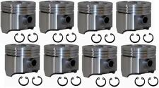 Ford 360/390 FE Speed Pro Hypereutectic Flat Top 4VR Pistons cast rings (8) 060