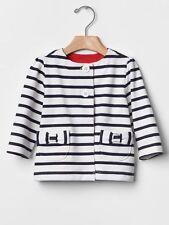 GAP Baby Girls NWT Size 3-6 Months White Navy Blue Nautical Bow Jacket Cardigan