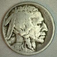 1914 Buffalo Indian Head Nickel 5 Cent US Type Coin G - Good