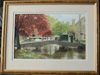 Framed & Glazed PETER KNOWLES Watercolour, Stow-On-The-Wold, Cotswolds