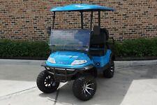 New 2020 Blue / Black Advanced EV 48V Electric Golf Cart Lifted 4 Passenger