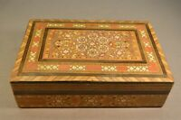 Old Vintage Middle Eastern Marquetry Box Handmade Inlay Wood