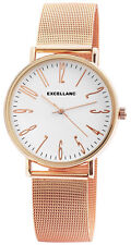 Excellanc Damen Armbanduhr Mesharmband Mesh Armband Uhr Milanaise Look Rotgold