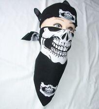 Wholesale Lot 12 pcs Skull Jaw Bone Bandana Head Wrap Face Mask Biker Scarf :o)