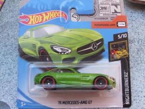 Hot Wheels 2018 #264/365 2015 MERCEDES-AMG GT green HW Nightburnerz