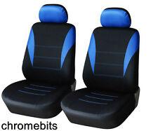 AVANT bleu noir tissu Housse de siège / selle pour Renault Espace Kangoo Trafic