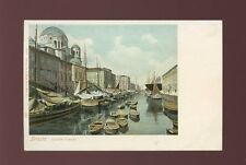 Italy TRIESTE Canale Grande Grand Canal u/b c1902 PPC