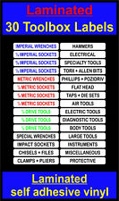 laminated 30 TOOLBOX Chests Labels Craftsman snap on sealey us pro beta draper w