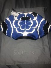 Alexander McQueen manta silk clutch bag