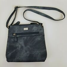 Cabrelli Blue Crossbody Shoulder Bag Faux Leather Tie Dye Print