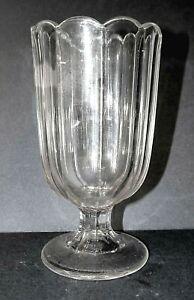Boston & Sandwich Glass Spill Vase Spooner Flint pre- EAPG Antique mid-1800's
