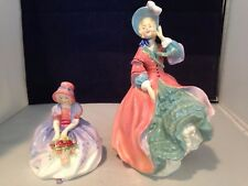 Royal Doulton Spring Morning Hn1922 & Monica Hn1467 Excellent Condition Figurine