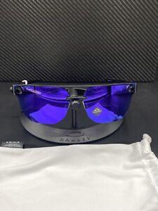 Oakley Chrystl Matte Black Frame Prizm Violet Iridium Lenses NWOT Free S/H