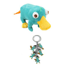 Disney Phineas and Ferb Perry Plush Doll Toy & Keychain Keyring Metal
