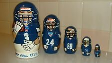 Super Bowl Xlviii Champions Seattle Seahawks Nesting 5 Dolls, made in Russia