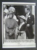 AP Wire Press Photo 1981 Lady Diana Spencer Princess Margaret & Prince Charles