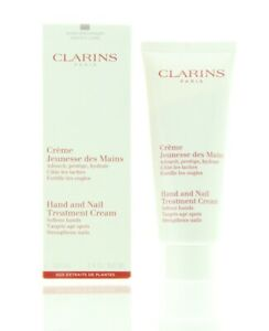 Clarins Hand & Nail Treatment Cream To Soften Hands 100ml - Targets Age Spots, S
