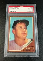 New York Yankees Mickey Mantle 1962 Topps #200 PSA 6 Ex-Mt Centered
