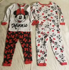 Lot of 2 Disney Junior Minnie Mouse 2-Piece PJ Set for Toddlers Size 3T