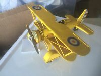 Vintage Metal Yellow Plane.Great Gift,collectible. Display any Where . FREE SHIP